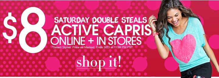 Shop $8 Capris