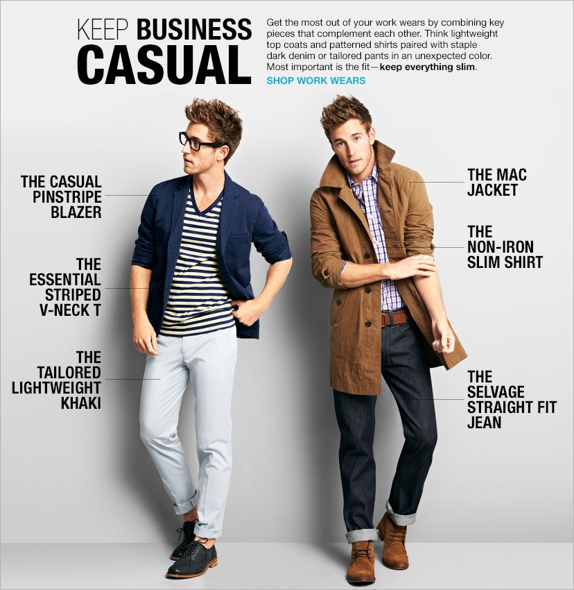 KEEP BUSINESS CASUAL | SHOP WORK WEARS