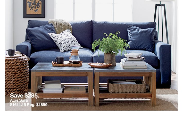 Save $285 on the Axis Sofa