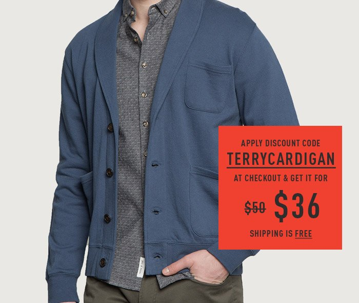 Apply Discount Code TERRYCARDIGAN At Checkout & Get It For $36. Shipping Is Free.