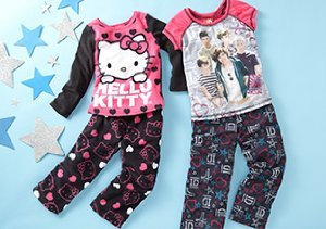 Girls' Sleepwear: Minnie, Hello Kitty & More