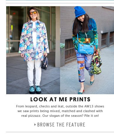 LOOK AT ME PRINTS - Browse the feature
