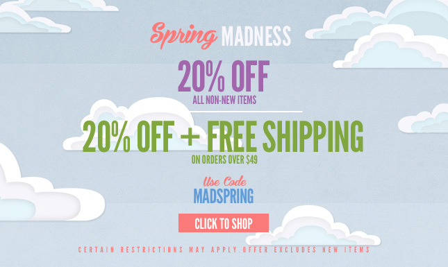 MADSPRING: 20% Off + Free Shipping on orders over $49