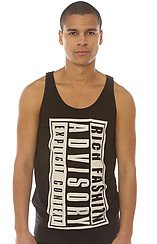 The Rich Advisory Big Tank Top in Black
