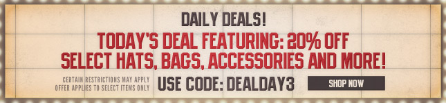 Friday Daily Deal: 20% Off on select Bags, Hats, Accessories and More