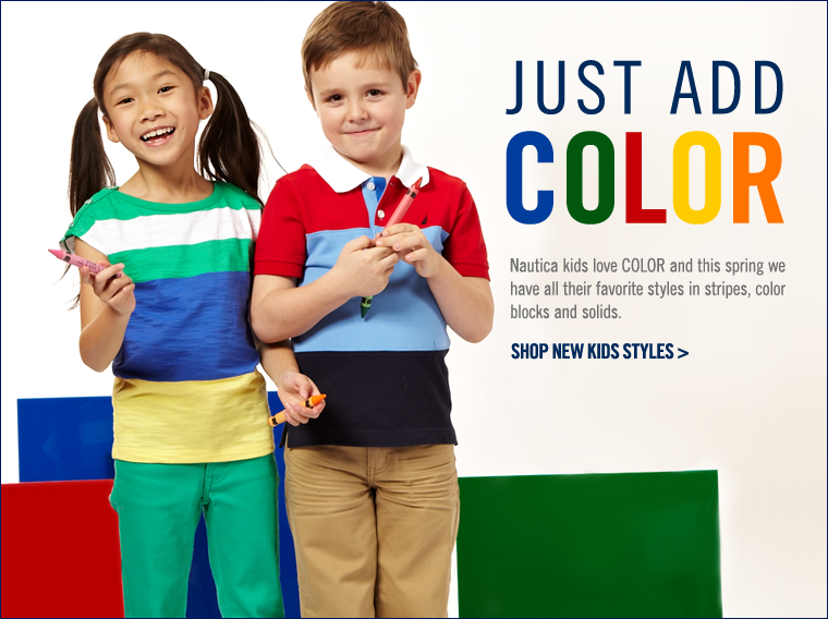 JUST ADD COLOR! Shop new styles for kids.