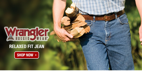 Wrangler® Rugged Wear Relaxed Fit Jean.