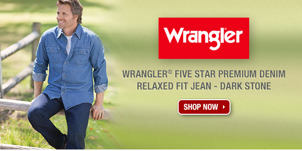 Wrangler® Five Star Premium Denim Relaxed Fit Jean - Dark Stone.