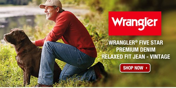Wrangler® Five Star Premium Denim Relaxed Fit Jean - Vintage.