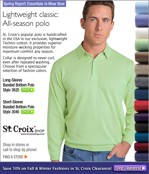 Long-Sleeve Banded Bottom Polo - Style 3625