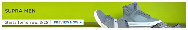 Supra Men is on HauteLook tomorrow 3/25 | Preview Now