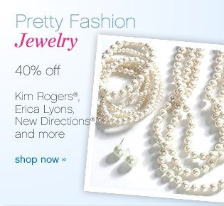 Pretty fashion jewelry 40% off. Shop now