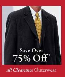 All Clearance Outerwear - Save Over 75% Off*