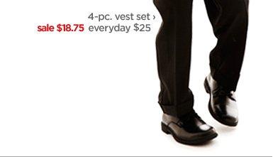 4-pc. vest set › sale $18.75 everyday  $25