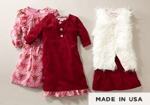 Made in the USA: Girls' Tops & Bottoms