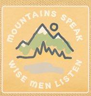Men's Long Sleeve Tee Mountains Speak