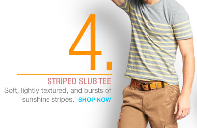 4. | STRIPED SLUB TEE | SHOP NOW