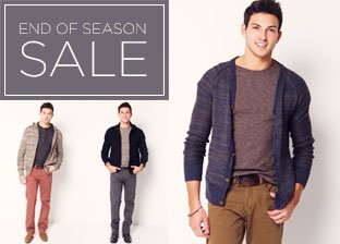 End of Season Sale: Apparel for Him