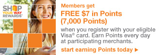 SHOP YOUR WAY REWARDS(SM) | Members get FREE $7 in Points (7,000 Points) | start earning Points today