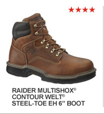 "Raider MultiShox Contour Welt Steel-Toe EH 6"" Boot"