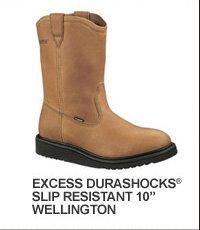 "Excess Durashocks Slip Resistant 10"" Wellington"