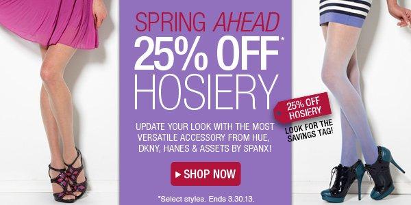 25% Off Hosiery