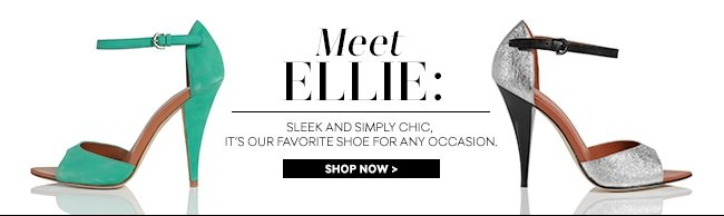 Meet Ellie: Sleek and simply chic, it's our favorite shoe for any occasion.