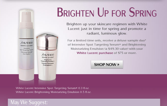 Brighten up your skincare regimen with White Lucent