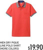 MEN DRY PIQUE LINE POLO SHIRT