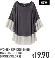 WOMEN DIP RAGLAND T-SHIRT