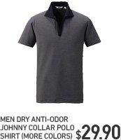 MEN DRY ANTI-ODOR JOHNNY COLOR POLO SHIRT