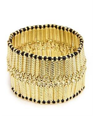 Saachi Two-tone Streach Columbus Bracelet