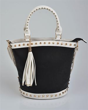 Carla Giannini SS/2013 Studded Tassel Shoulder Bag Made in Italy