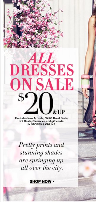 All dresses starting at just $20! Shop Now!