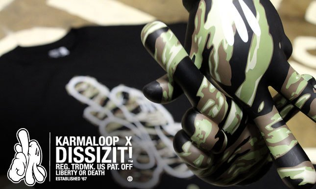 Karmaloop and DISSIZIT Exclusive Tiger Camo Tee Collabo