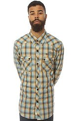 The Dx1369 Buttondown Shirt in Blue and Brown Plaid