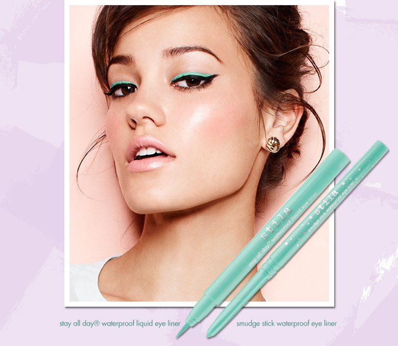 turquoise liner and smudge stick
