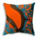 18 in. Orange Coptic Pillow