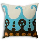 22 in. Blue Coptic Pillow