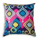 26 in. Multicolored Totem Pillow
