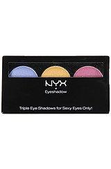 The NYX Eyeshadow Trio in Team Spirit
