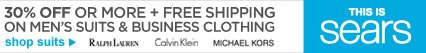 30% OFF OR MORE + FREE SHIPPING ON MEN'S SUITS & BUSINESS CLOTHING | shop suits | THIS IS SEARS