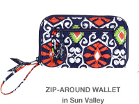 Zip-Around Wallet in Sun Valley