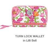 Turn Lock Wallet in Lilli Bell