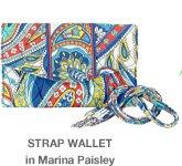 Strap Wallet in Marina Paisley