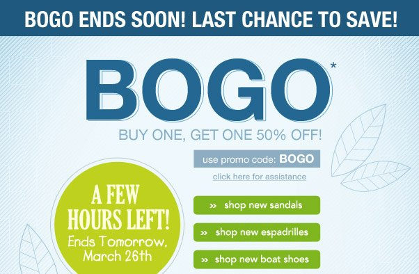 Time's Ticking… BOGO Ends Soon!