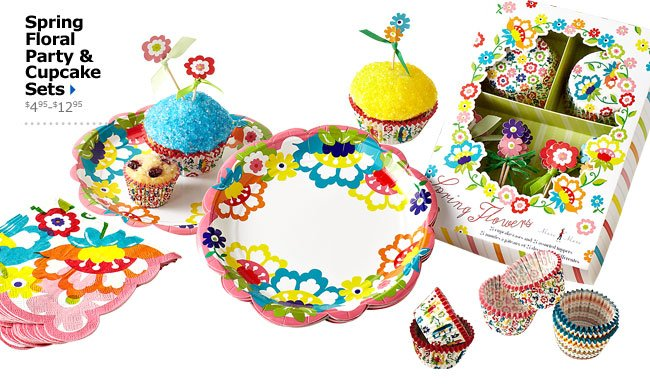 Spring Floral Party & Cupcake Sets