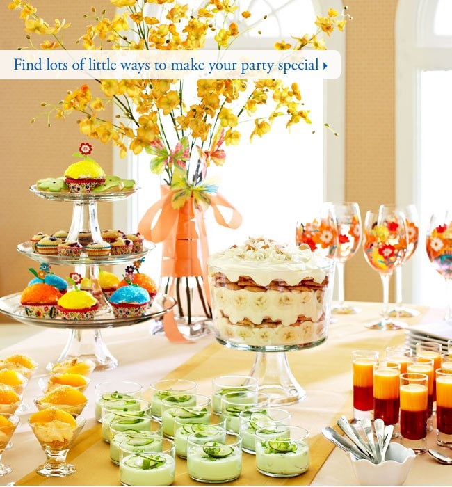 Find lots of little ways to make your party special