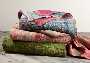 Vintage One-of-a-Kind Kantha Throws