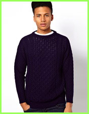 Bellfield Plain Cable Knit Fisherman Jumper